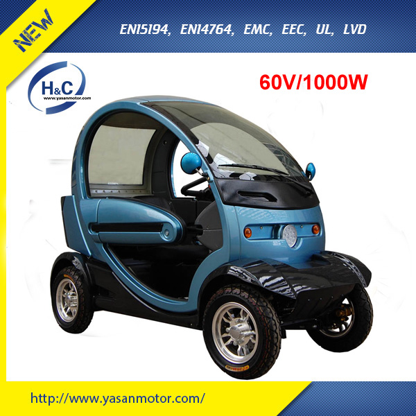 CE approved fully enclosed 2 seat mobility scooter 1000W brushless mobility scooter electric 4 wheel