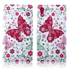 For Sony Xperia Z2 Phone Case Beautiful Cute Print Cover Stand PU Leather Phone Bag Magnetic Smart Shell Case Wallet