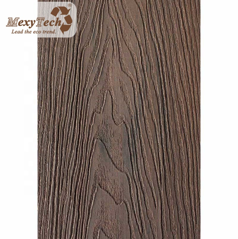 recycled plastic waterproof wood 3d wood-texture outdoor wpc decking for outdoor flooring