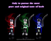 2015 new glass rose pipes for sale e-cigarette with cool led light