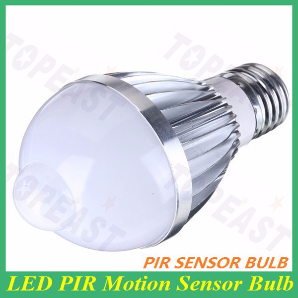 Wholesale E26 LED Infrared Motion Detection Light Sensor PIR <strong>Bulb</strong> 5 W