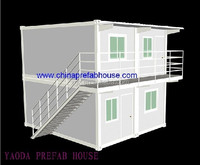 Fast Assembly Low Cost Prefab flatpack office/living room/ container house