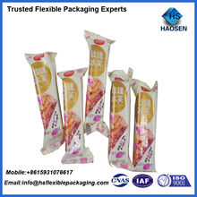 Custom printing al foil food packaging plastic wrap film for snack bar packaging