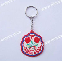 pvc embossed promotion gifts custom key chain