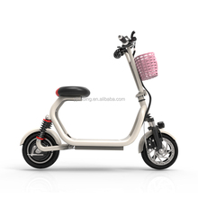 Lightweight shock absorption electric folding mobility scooter with phone holder
