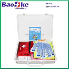 BK-C16 ABS Material Wall Mounted Car Emergency Kit First Aid Kit / Auto Roadside Tool Kit First Aid Box
