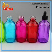 4 oz 120ml glass bottle for cosmetics packaging for e liquids manufacturer