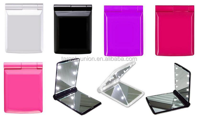 2016 Fashionable Folded <strong>LED</strong> Lighted Cosmetic Mirror