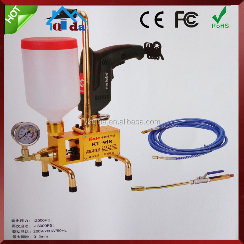 Epoxy resin double liquid-type filling machine for crack repair