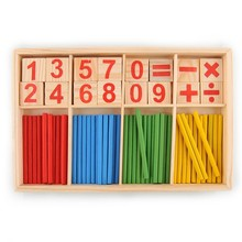 52 Counting Stick Wooden Mathematics Material Educational Toy for Kid Child
