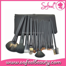 China Factory 18 Pieces Professional Makeup Brush Kit with Custom Logo Synthetic Hair Brush Set
