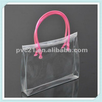 Tube handle custom popular pvc bag wholesale