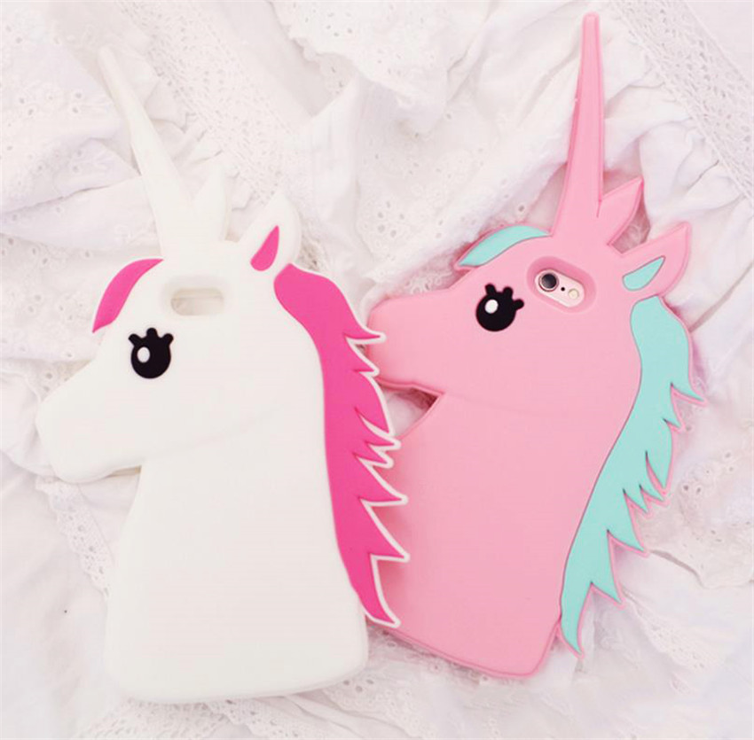 Fantastic Cartoon Unicorn Horse Soft Silicone Phone Cases Cover For iPhone 7 7Plus 5G 5S SE 5C 6 6G 6S 6Plus