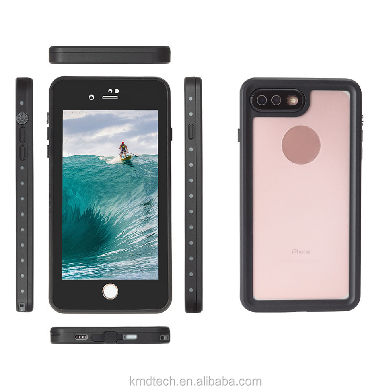 Lightweight IP68 Transparent Waterproof Shockproof Dirtproof Case for iPhone 7 Plus 5.5'' Waterproof Phone for iPhone 7 Plus