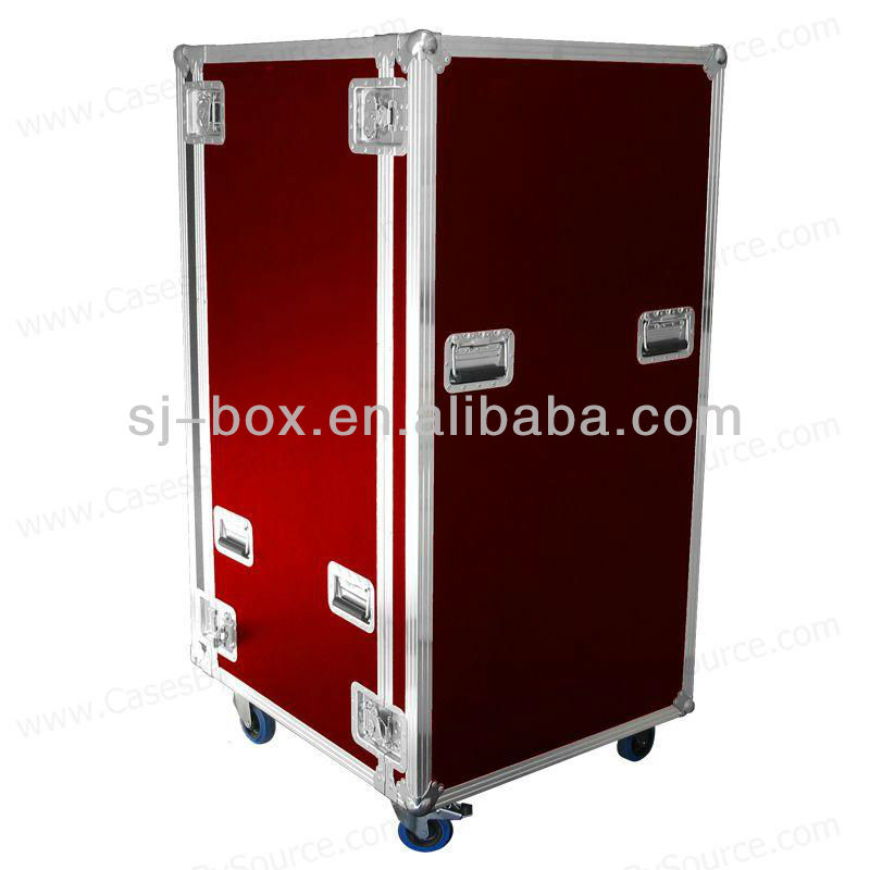Red Large Aluminum Flight Case