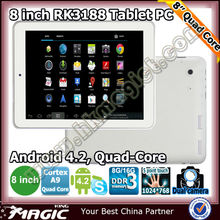 "New 8"" android 4.2 quad core cheap tablets with 2 cameras"
