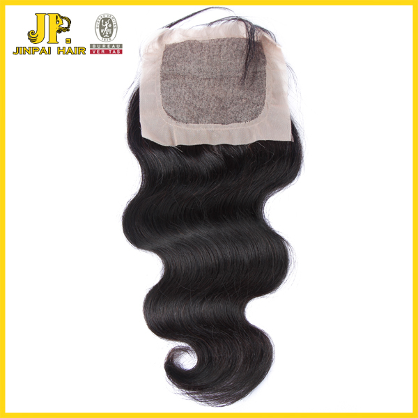 JP virgin brazilian free part 4x4 size silk base closure