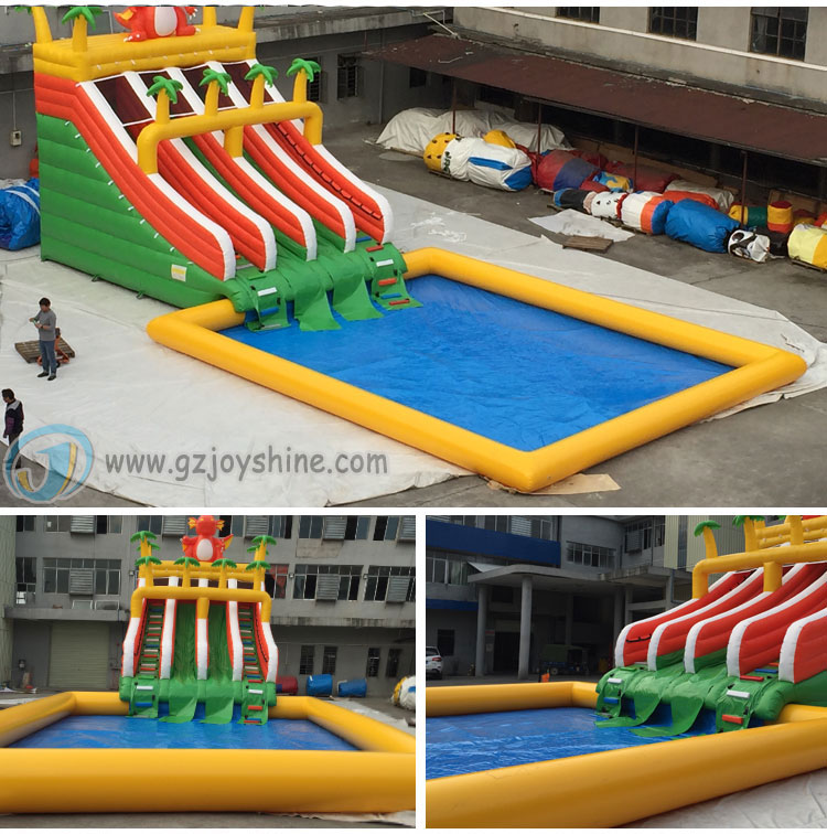 Joyshine Cheap Big Outdoor 6m x 6m Inflatable Deep Swim Water Pools Large Inflatable Square Swimming Pool For Kids Adults