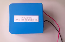 Deep cycle IFR 26650 4S4P 12V 20Ah LiFePo4 Battery Pack for electric vehicle