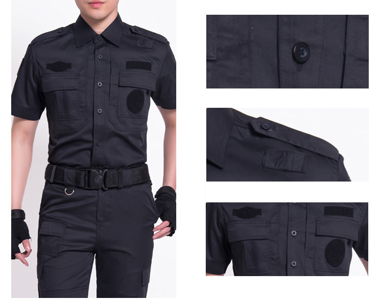 Men's Short Sleeve Suit For Security