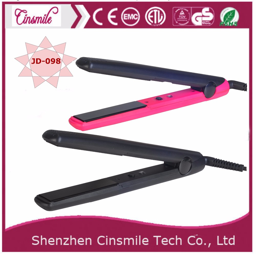 High tech hair straightener with ceramic floating plates hair iron