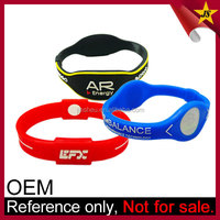Custom logo cheap powerful balance fitness sports silicone bracelet
