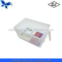 Small size multipurpose plastic kitchen vegetable storage baskets with handle