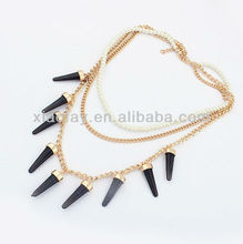 Fashion Brand Gold Triangle Pendant Necklace Geometry Jewelry