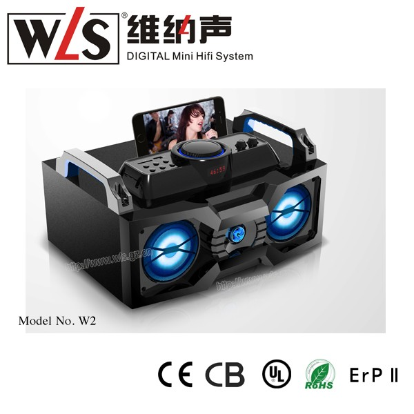 2.1 portable party mini boombox speaker USB/DJ/MP3 speaker box