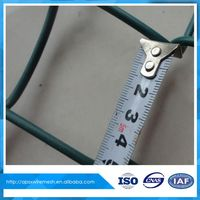 Anping Shuxin PVC cyclone Decorative metal chain link wire fence
