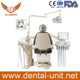 floor fixed dental unit with imported upholstery and LED sensor implant lamp