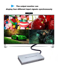 Latest 1080P HDMI switch 4x 1 Quad screen Multiviewer Splitter with Seamless Switcher IR cable Remote Control for