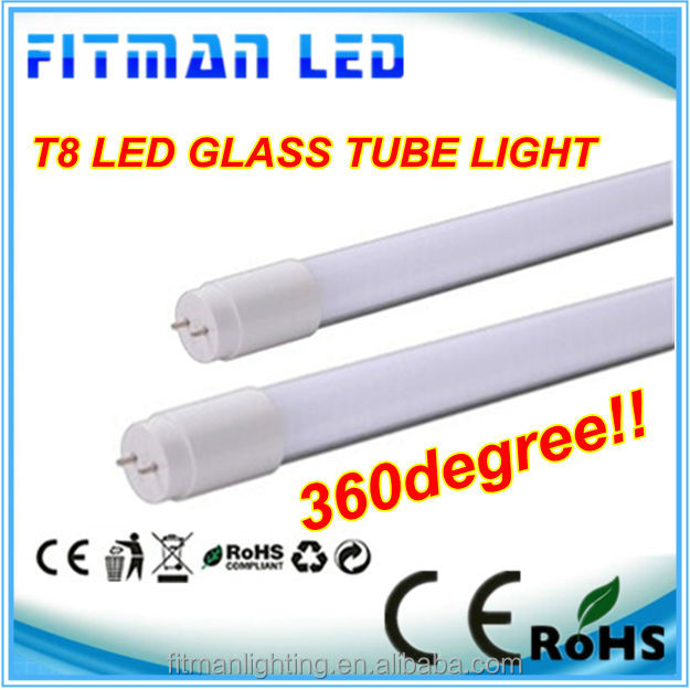 2014 New design 9W glass cover 100-240v led fluorescent tubent tube with CE RoHS