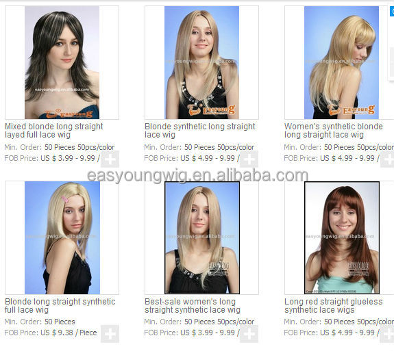 Japan kaneka fiber hair wigs, synthetic heat resistant hair style