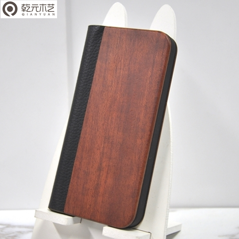 Rosewood hold universal flip leather phone cases mobile
