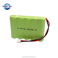 nimh battery pack 6v AA 1500mah rechargeable batteries aa