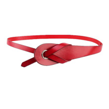 Simple Women Retro Adjustable Leather Overlapping Waist Belt