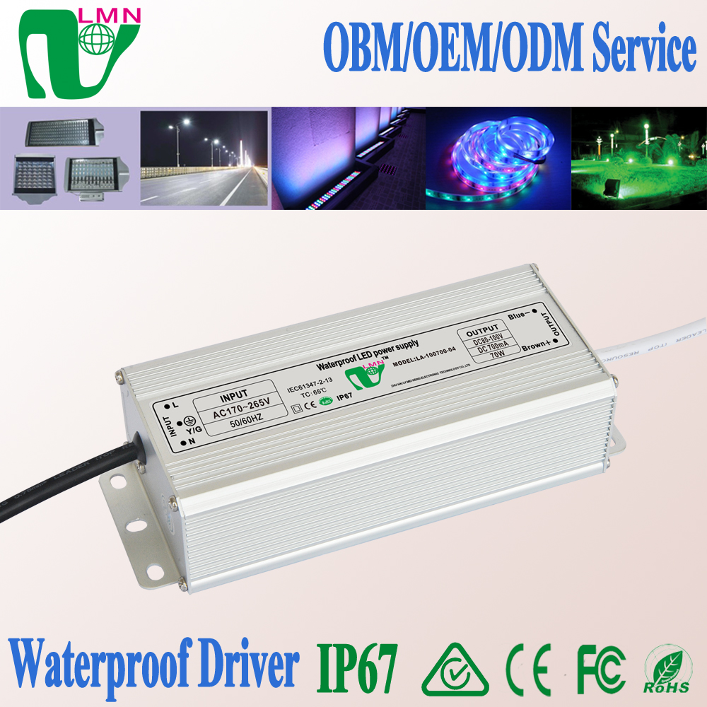 Hot selling 70W led waterproof power supply 100vdc 700mA output