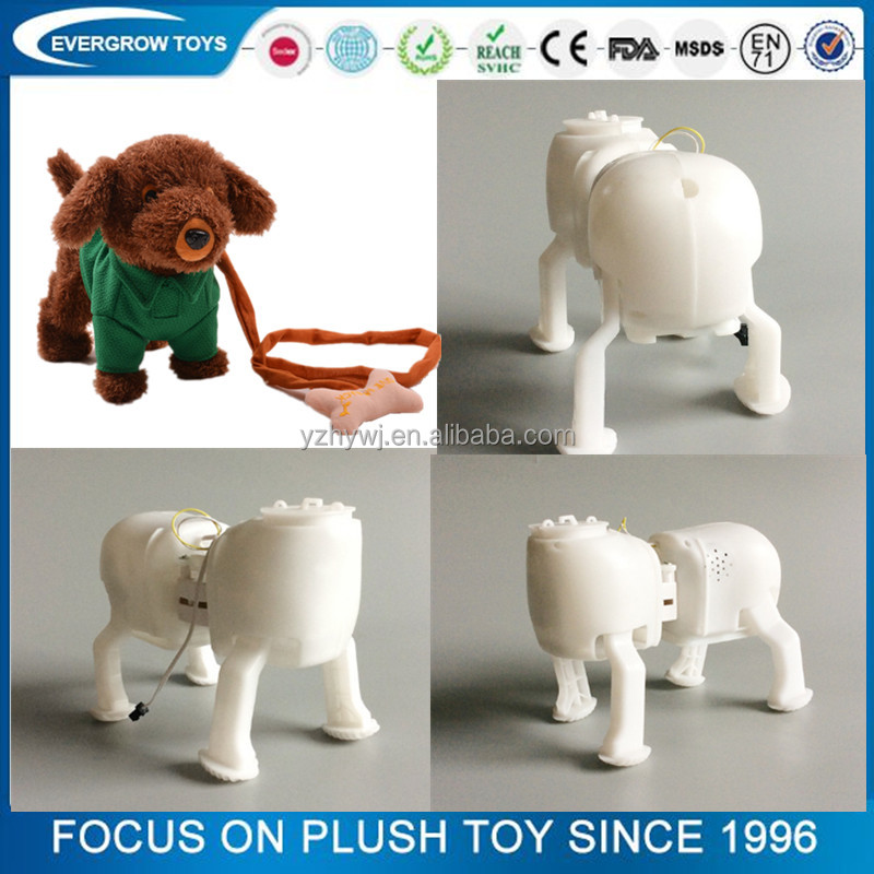 walking and singing dog with rope electronic plush toys