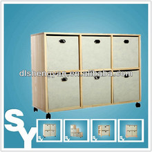 Non-woven Fabric Large Decorative Storage Trunk with Drawers