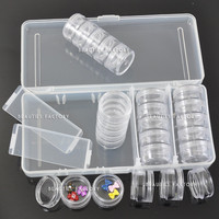 Beauties Factory Empty 25 Space Nail Art Tools Tip Storage Box Case