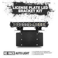 License Plate mounting bracket light car accessories 12V 24V led work lamp 48w led driving light for jeep,auto parts,atvs