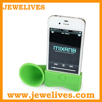 silicone horn amplifier,louder speaker for iphone