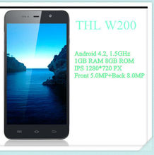 5.0 Inch1280*720 IPS Screen THL W200 MTK6589T Quad Core 8MP Camera Smart Android Mobile Phone