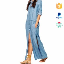 Paypal Accepted New Fashion Ladies Denim Dress Women