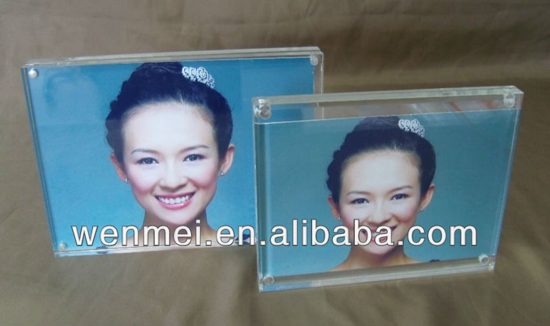 5x7 Clear Acrylic Desk Magnetic photo frame