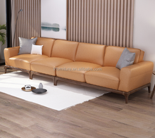Living roonm sofa Parlor furniture with leather sofa