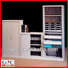 Two Tambour Aluminum Door Office Lockable Filing Cabinet