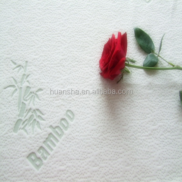 china supplier knitted jacquard mattress fabric bamboo/polyester fabric