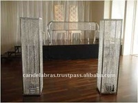 wedding stages crystal pillars/crystal Decoration wedding mandaps/High quality crystal carved crown glass candlesticks